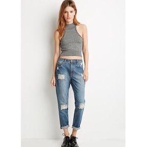 Life in progress Distressed denim Jeans 24